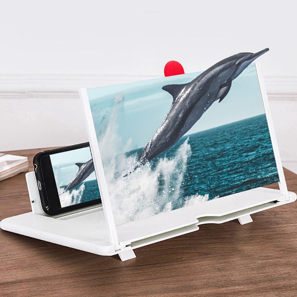 Soporte amplificador de pantalla 3D de 12 pulgadas soporte de vídeo soporte de aumento protección ocular para escritorio teléfono móvil casero estereoscópico agrandado