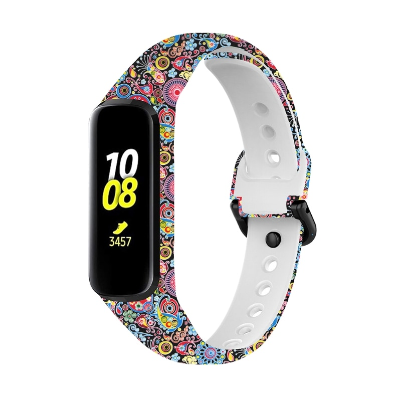 Купить с кэшбэком Durable Soft Silicone Wristband Replacement Watch Band Strap Fit2 Sport Band For -Galaxy Fit 2 SM-R220 Smart Wristband