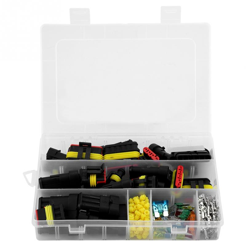 1/2/3/4/5/6 Pin Super sellado manera coche cable eléctrico impermeable conector Terminal + kit de fusibles
