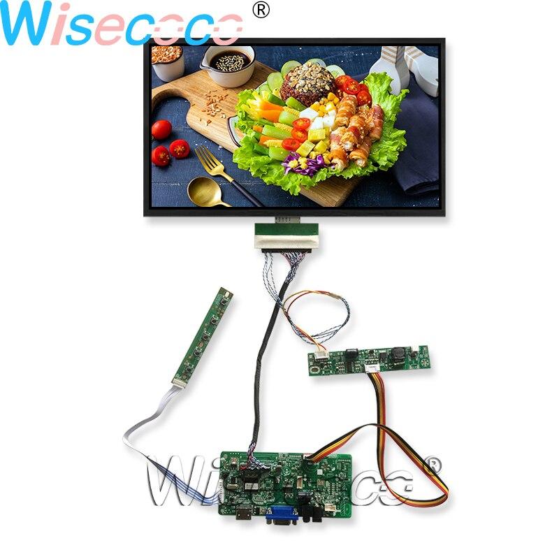 Wisecoco 15.6 بوصة عرض سطوع عالية تصل إلى 1200 Nits درجة حرارة واسعة FHD 1920*1080 شاشة LCD LVDS VGA تيار مستمر لوحة للقيادة