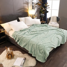 Couvre-lit de couleur unie flambant neuf pour la maison hôtel hiver chaud flanelle jeter couverture confortable doux drap housse de matelas