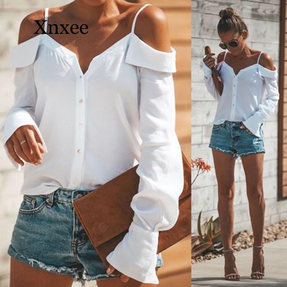 Women Off Shoulder V-Neck Long Sleeves Pure color Tops Loose Blouse Shirt One-shoulder V-neck long-sleeved solid color sling black one shoulder long sleeves loose sweaters