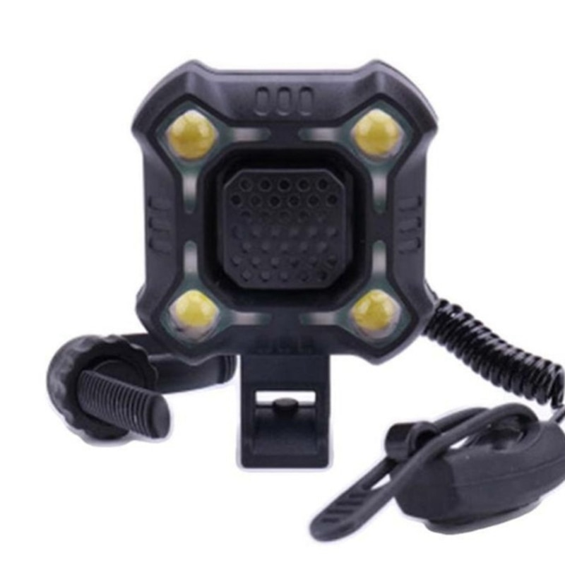 2 в 1 велосипедный колокольчик, светильник для велоспорта, с USB зарядкой, MTB, передний, велосипедный, электронный, водонепроницаемый
