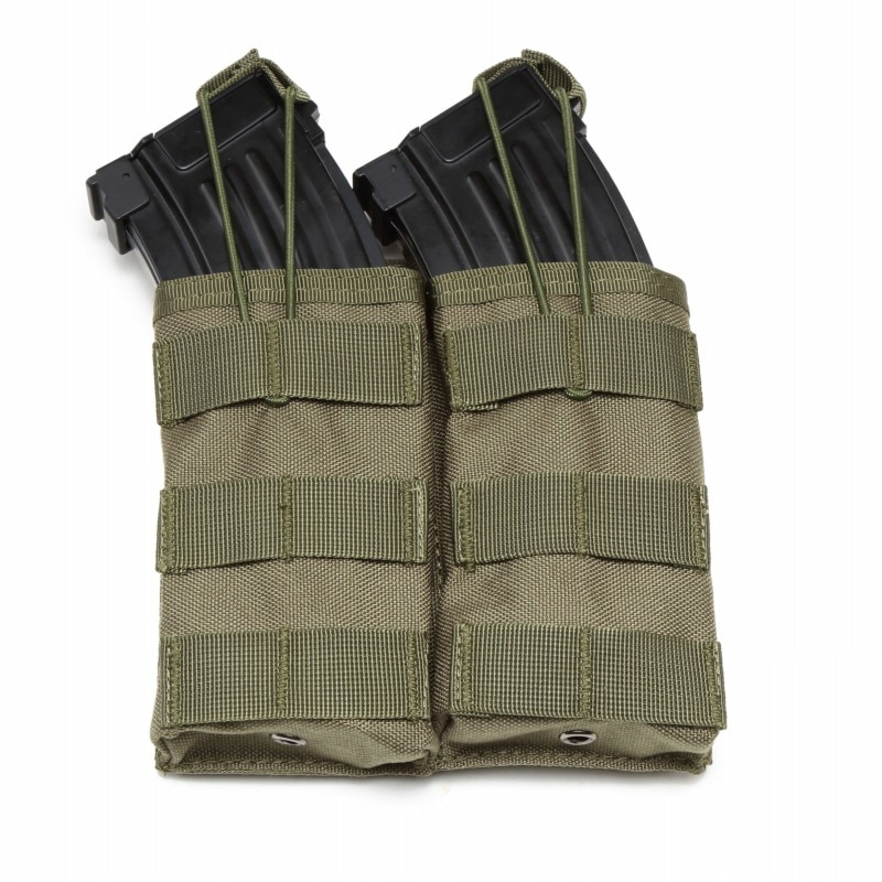 Military AK AR M4 M16 MOLLE Tactical Double Magazine Pouch Open Top Airsoft Paintball Hunting Waist Bag Pistol Rifle Mag Pouches