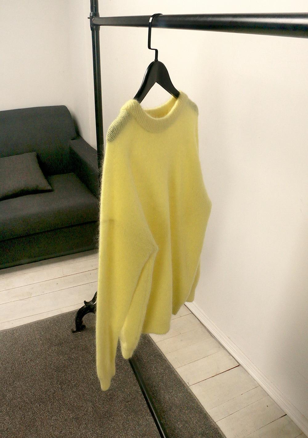 SHUCHAN Yellow SWEATER WOMEN 34% Mohair Free Shipping Items Clothes for Women Streetwear Women Clothes Korean Fashion enlarge