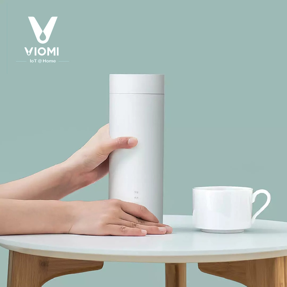 VIOMI, hervidor de agua de viaje portátil, botella de calefacción eléctrica, taza 400ml 220V para té y café, Control inteligente de la temperatura, de xiaomi