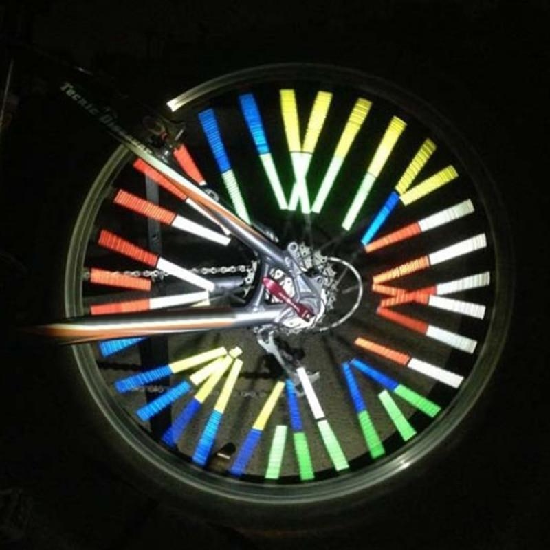 2 uds. Reflector de tira reflectante de bicicleta colorido Clip de tubo reflectante radios para bicicleta MTB radio de rueda BHD