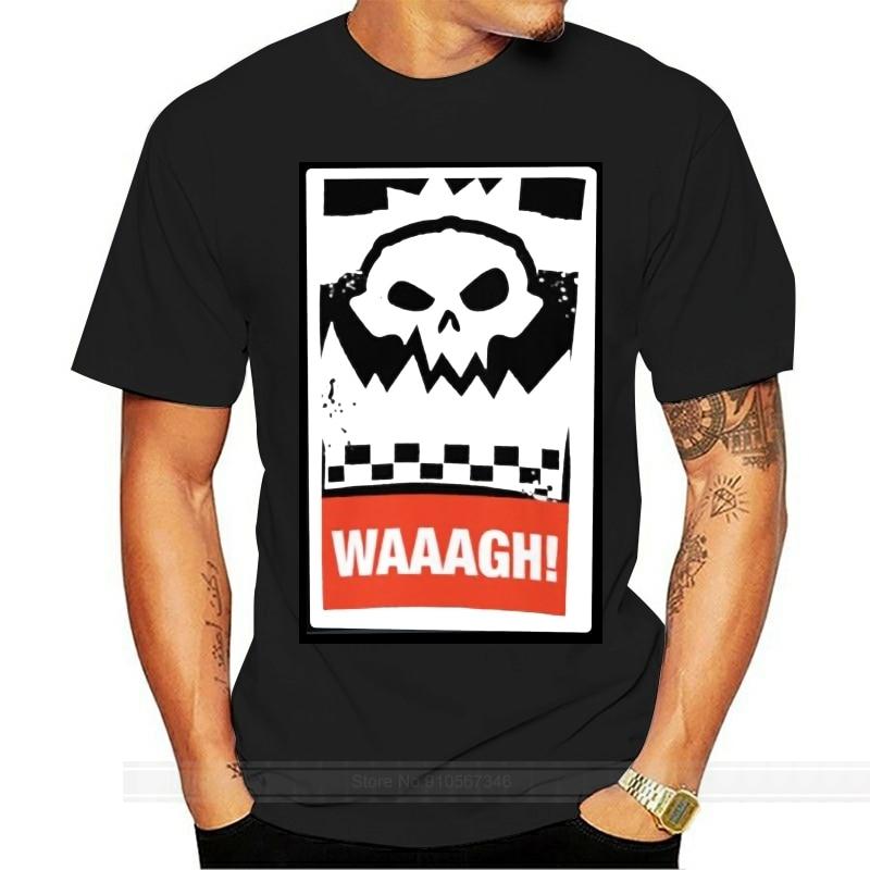 ¡Trabajo Waaagh! Camiseta Wargaming Meme 40000 40k orks ork, Camiseta de algodón para hombre, camiseta de moda de verano, talla europea