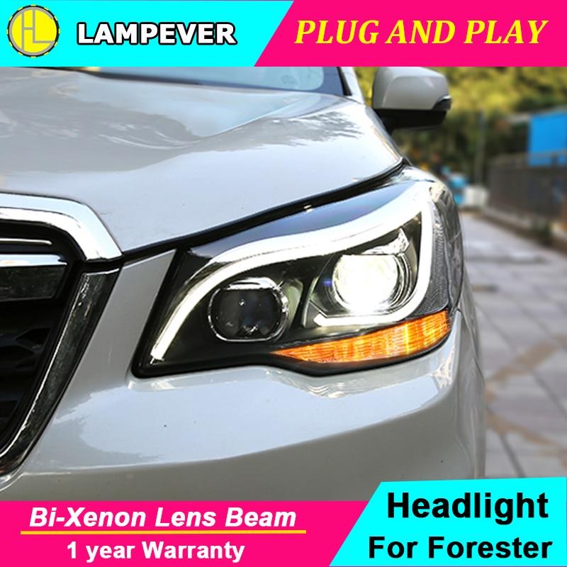 Faro delantero con estilo para coche Subaru Forester, faros delanteros 2013-2018, faro LED DRL Bi Xenon, lente Hid de luz alta y baja