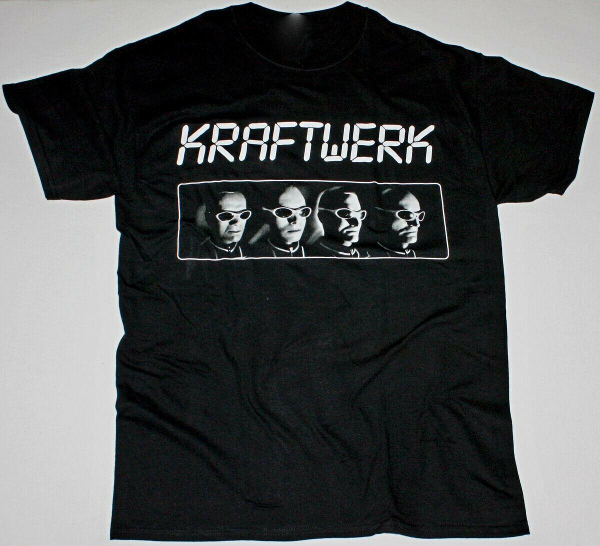 Kraftwerk Den, negro, 100 algodón, reimpresión, Unisex, todas las tallas, camiseta M880