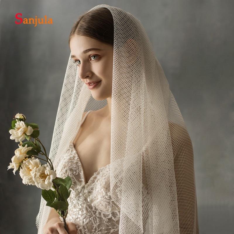 2020 nuevo diseño de velo para novia Simple alta calidad 2 capas de velo de novia 2 Merters largo velo de catedral de novia con peine V156