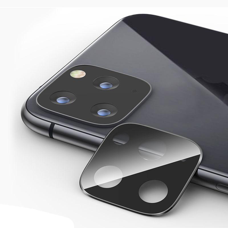 Kamera tylna osłona obiektywu pierścień dla iPhone 11 pro aluminiowa metalowa obudowa na iphonea 11 Pro Max 2019 hartowanego szkła zakrzywiona pokrywa
