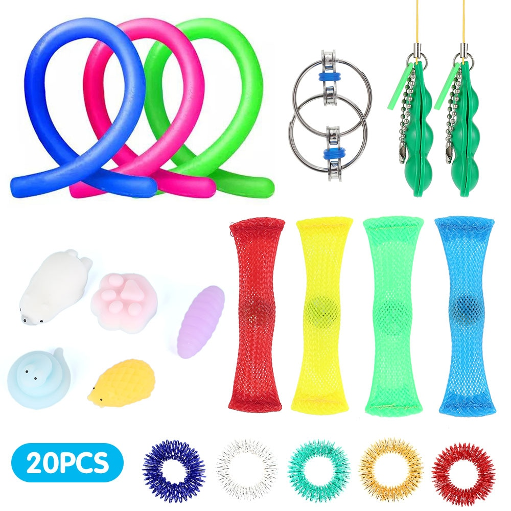 20pcs Relief Stress Toy Suit Fidget Sensory Toys Autism ADHD SEN Stress Relief Special Need decompression Toys enlarge