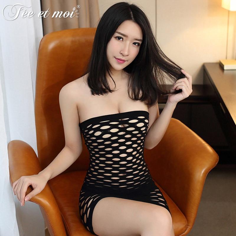 Sexy Mesh Half-Naked Temptation Bag Hip Hem Sexy Net Dress One-Piece Tube Top Bag Hip Skirt