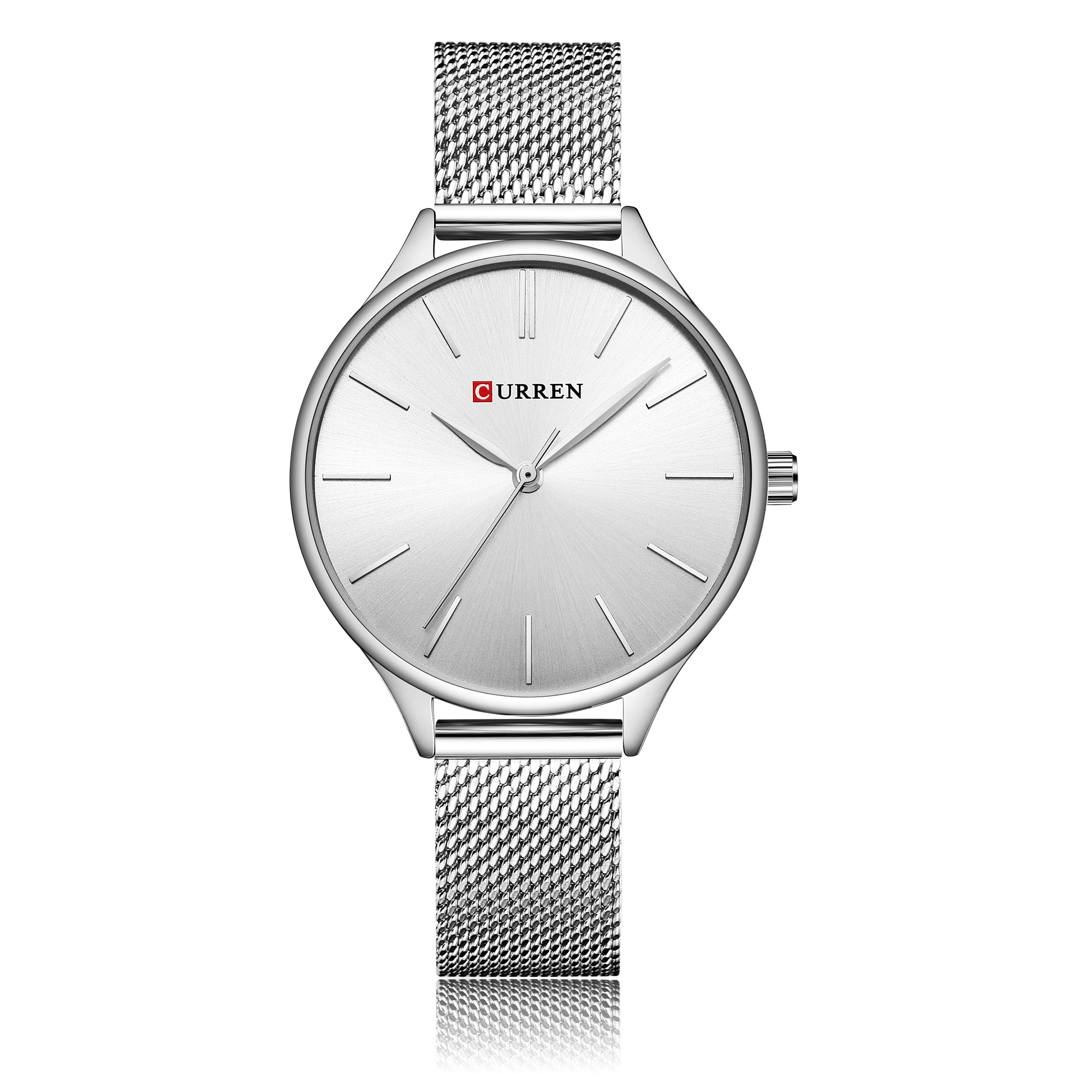 CURREN Classic Women Watches High Quality Casual Stylish Mesh Wristwatches Stainless Steel Simple Quartz Ladies Clock Dress Gift enlarge