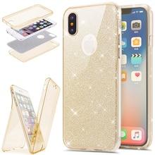 360 Full Protection Glitter Slim Soft TPU Silicone Case for Coque iPhone 11 Pro Max 6 6S 7 8 Plus X XS max XR 5 5S SE Funda