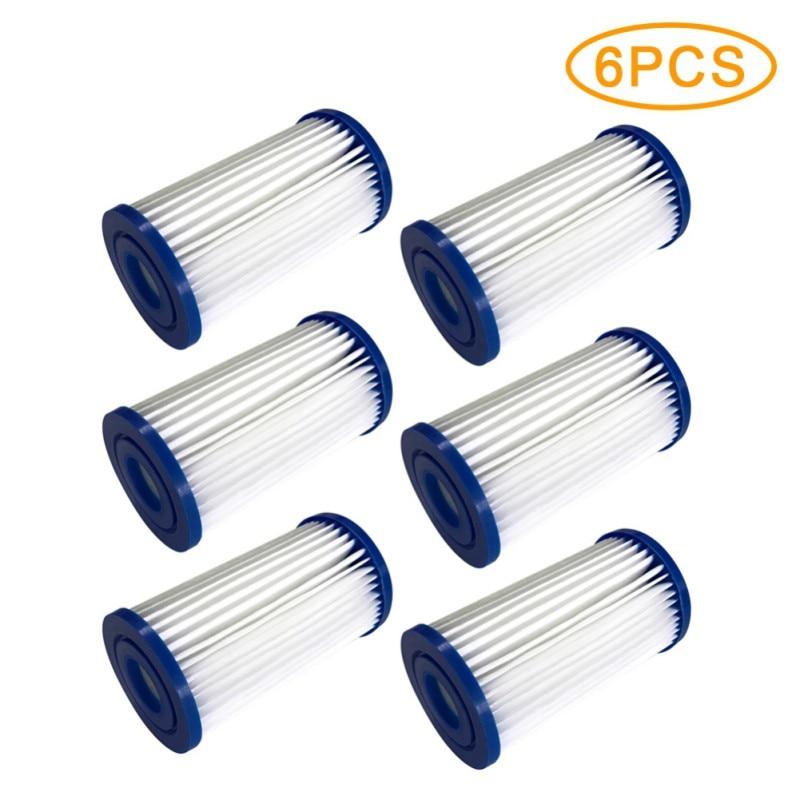 6 4 2 1 ud. intex filtro de espuma para piscina esponja Intex Tipo I espumadera Tubular para piscina limpiador lavable accesorios para piscina