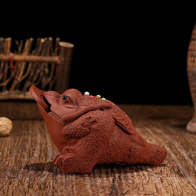 ييشينغ الشاي اللعب الشاي الحيوانات الأليفة اللعب الذهب العلجوم الديكور الطين إبريق الشاي الملحقات