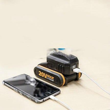 Конвертер аккумуляторов usb адаптер для зарядки WA4009 для worx liion 20 В батарея WX390/WX176/WX678/Wu278/WG329/WG169E/WX372/WX523/WU268/