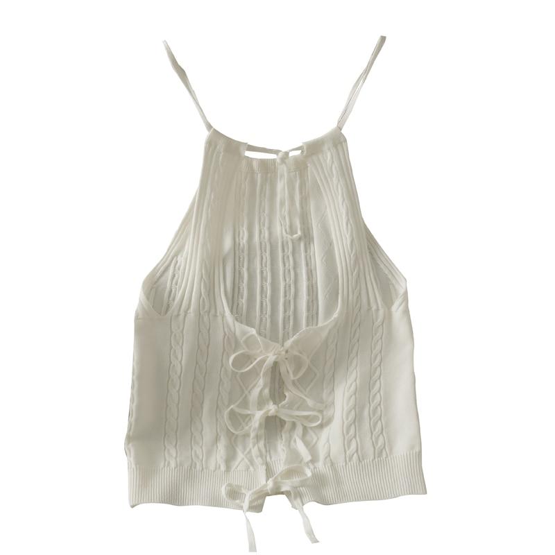 2021 летние Для женщин французский нерегулярные бантом кружевное платье на бретелях комплект одежды из футболки и коротких пикантные трикот...