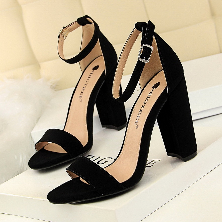 Bigtree Shoes Women Heels Sexy Women Shoes High Heel Plus Size Women Pumps Wedding Shoes Ladies Classic Sandals Chaussure Femme