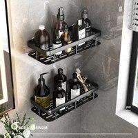 modern nordic style bathroom organizer wall mount bracket kitchen storage spice jar rack cabinet shelf bathroom shampoo rack