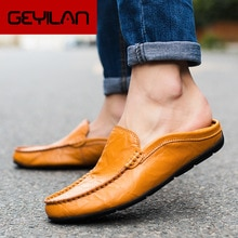 Men Shoes Genuine Leather Shoes Loafers Men Moccasins Slip On Flats Men Casual Boat Shoes Leather Te