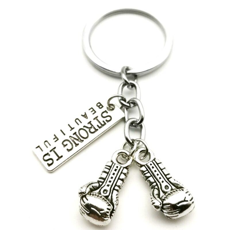 1 шт., прочные спортивные боксерские перчатки, брелок для ключей, мощный красивый подарок, мужской милый брелок