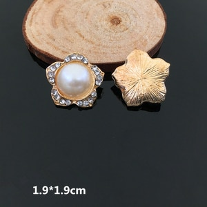 10pcs Gold Handmade DIY Hair Accessories Big Pearl Flower Alloy Accessories Clothing Phone Shell Shoes DIY Accessories