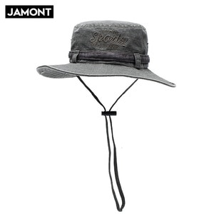 Spring and summer outdoor hiking bucket hats do old sunshade breathable fisherman hat casual stitching fishing cap 14037