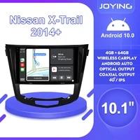 joying 10 1inch android10 car radio for nissan x trail qashqai 2015 gps carplay android auto dsp spdif subwoofer 5gwifi dvr dab