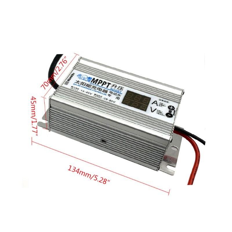 Panel Solar MPPT células controlador de cargador 10A de ajustable 24V 36V 48V 60V 72V regulador de voltaje