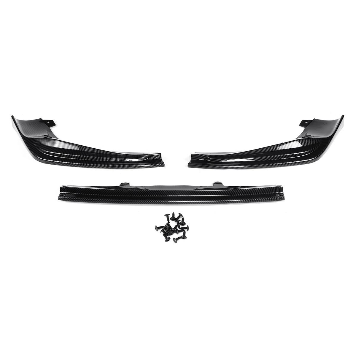 3 шт. углеродное волокно вид автомобиля передний бампер для губ Сплиттер Комплект диффузор протектор для Lexus IS250/350/200 T/300 AWD F-Sport 2014-2016