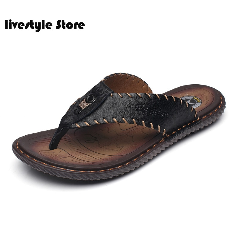 2021 New Arrival Summer Men Flip Flops High Quality Beach Sandals Non-slip Male Slippers Zapatos Hombre Casual Shoes Men