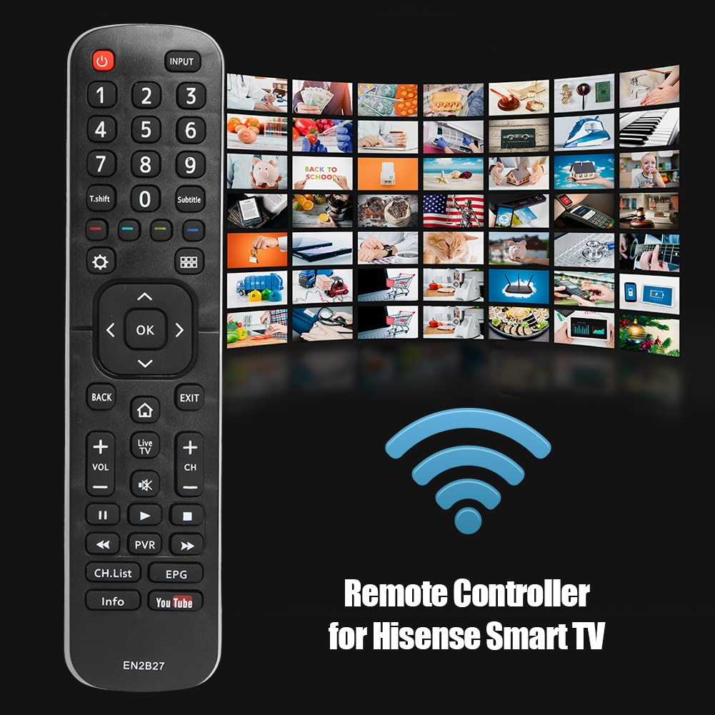 EN2B27 Smart TV Remote Control Replace Switch for Hisense 58N5 65N5 43N6 50N6 Electronic Smart Home Accessories
