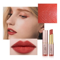 O.TWO.O Matte Lipstick Not Dry Waterproof Lip Balm Non Sticky 12 Colors Sexy Nude Pink Red Lip Tint Moist Lips Makeup Cosmetics