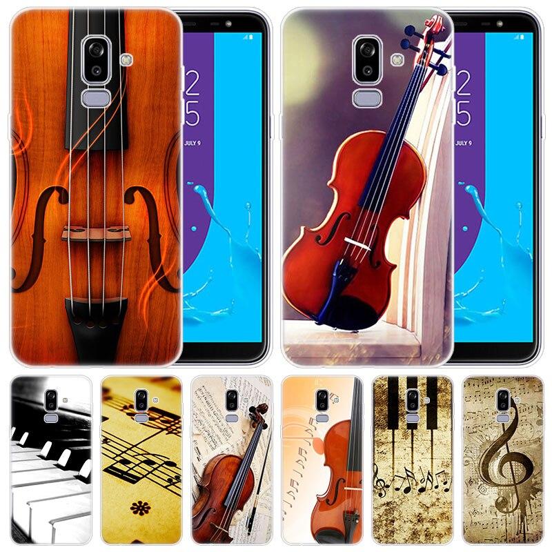 Notas musicales piano violín música clásica funda para Samsung Galaxy J8 J7 J6 J4 J2 2018 Core J3 2016 J5 2017 La UE J4 más J7 primer