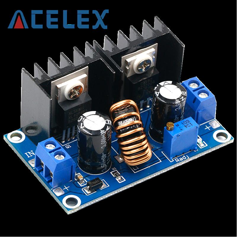 Módulo de fuente de alimentación descendente, DC4-40v a DC1.25-36v, 8a, 200w, ajustable, XL4016E1, DC-DC regulador de voltaje CC
