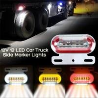 1pc 24v 12 led car truck side marker lights external signal indicator lamp 2000 4000k for universal truck trailer van bus