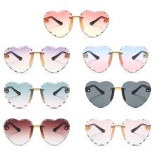 1pc Vintage Candy Color Simple Children Loving Girls ANTI-UV Sunglasses Anti-blue Light Retro Cute S