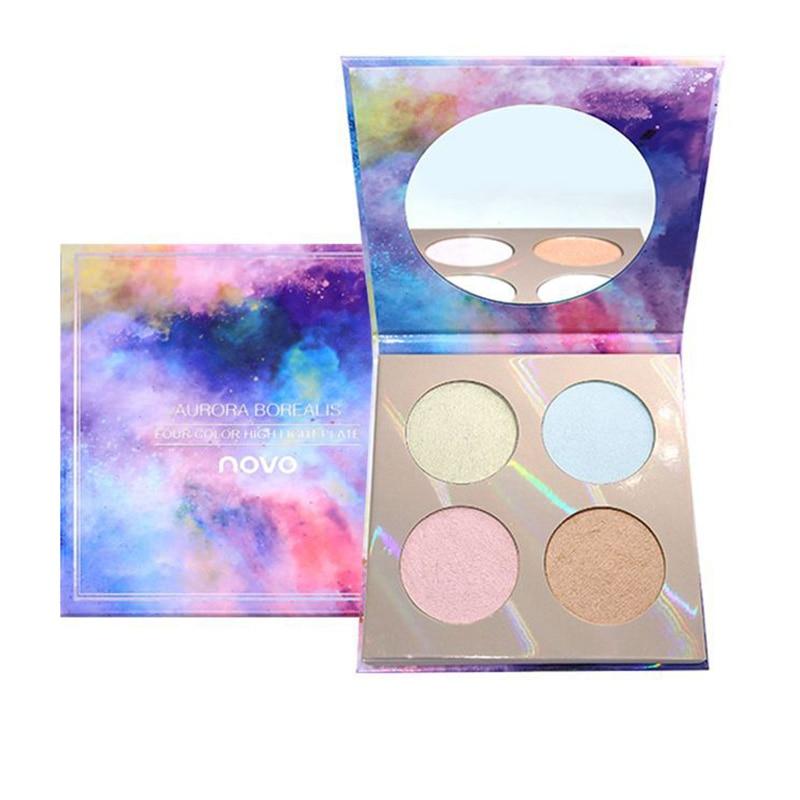 Gran venta resaltado para configurar maquillaje base aceite Control de larga duración 4 colores polvo de cara