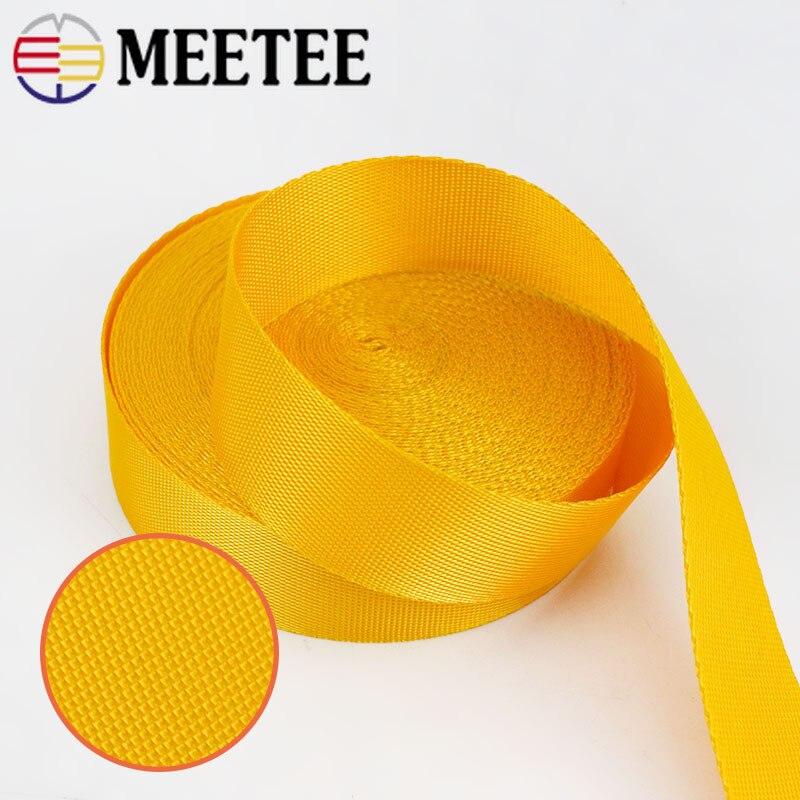 Купить с кэшбэком 8Meters 0.7mm Thick Polyester Nylon Webbings Straps Tapes Knapsack Backpack Belt Label Ribbons Bias Binding DIY Sewing Craft