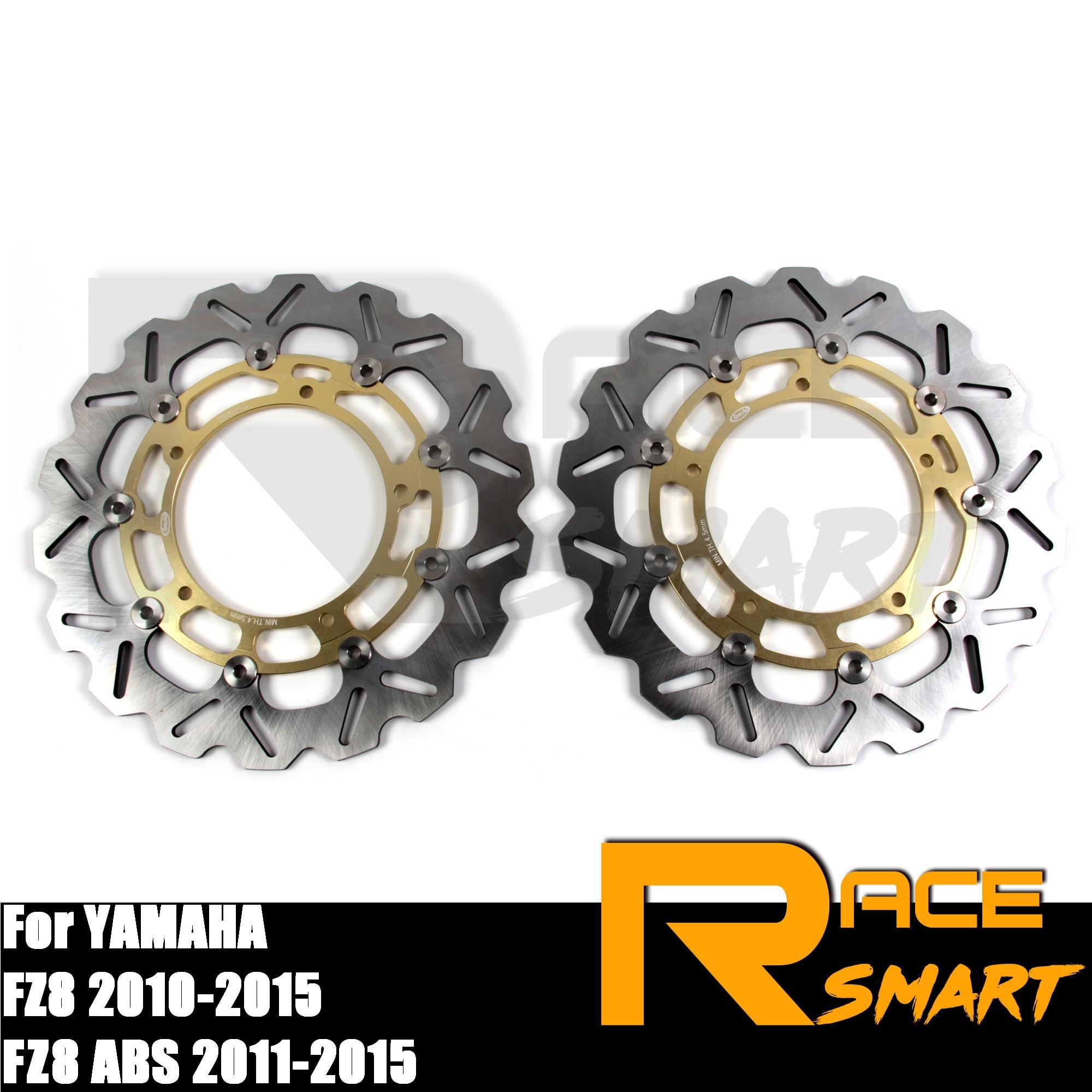 Rotores de disco de freno delantero flotante CNC para motocicleta para YAMAHA FZ8 2010-2015, discos de freno FZ 8 ABS FZ-8 800 2011-2014 2012 2013 dorado