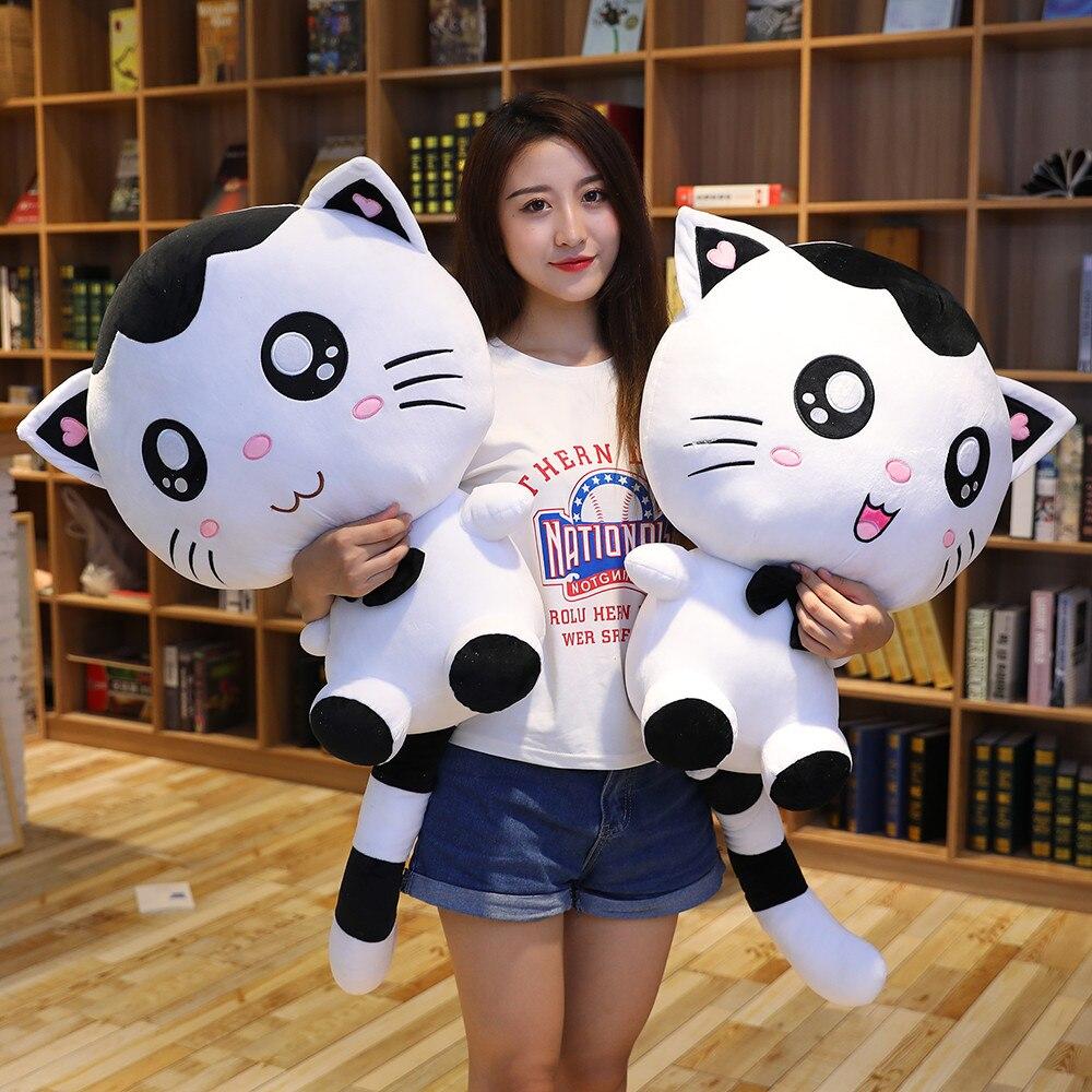 Caliente de peluche de juguete lindo cara grande de gato muñeca suave muñeca chica cama almohada grande muñeca Meng Regalo de Cumpleaños chica confesión regalo