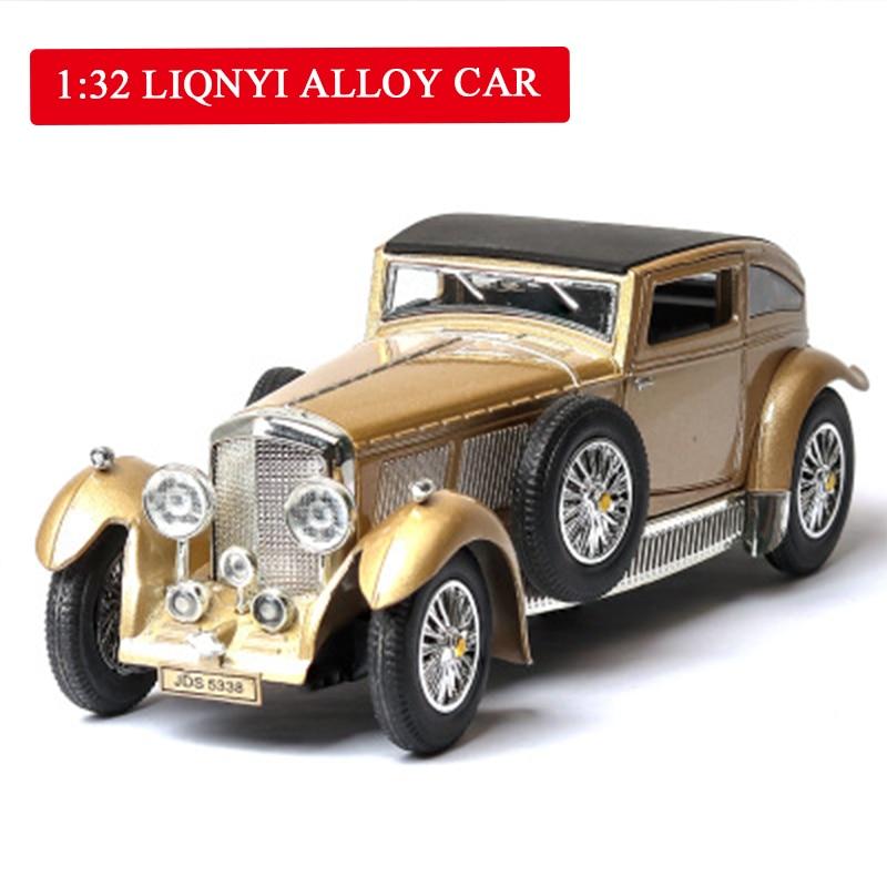 8L modelo de coche sonido luz juguete coche muebles atrás intermitente sonido chico es Toys1 32 Bentley de aleación de coche de nivel
