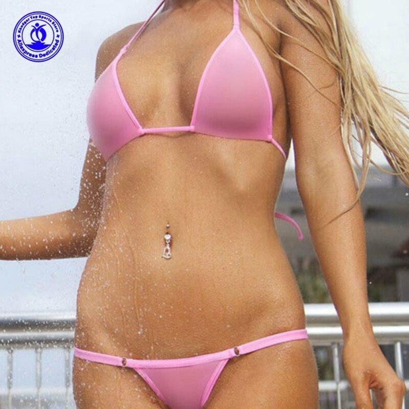 Sexy G-String Thong Micro Bikini Set Transparent Mini Swimwear See Through Mesh Bathing Suit Erotic Clubwear Costumes Swimsuit