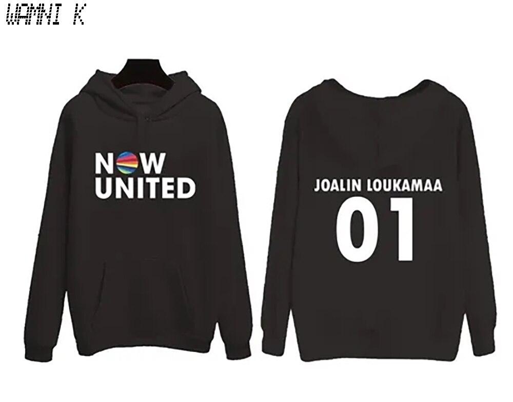 Sudadera con capucha WAMNI 2020 Now United para hombres y mujeres de Finlandia Joalin Loukamaa 01, Jersey Unisex Harajuku Tracksui