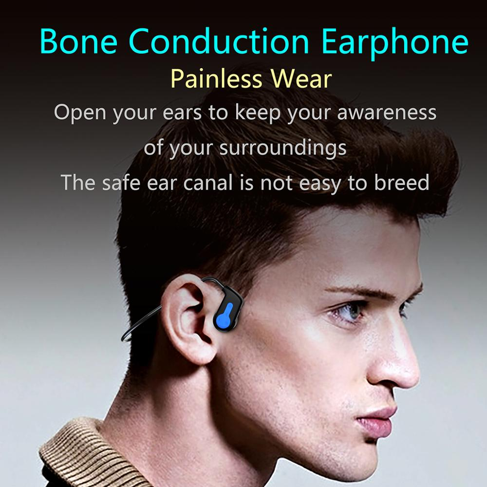 Wireless Bone Conduction Headset IPX8 Waterproof MP3 Headphones Bluetooth 16G with Mic MP3 Swimming