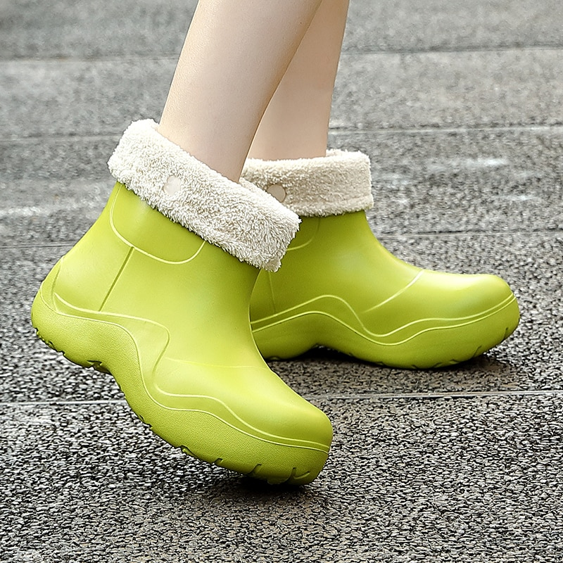 New Brand Women Slippers Winter Waterproof Warm Plush Home Cotton Shoes Couples Non-Slip Casual Indo
