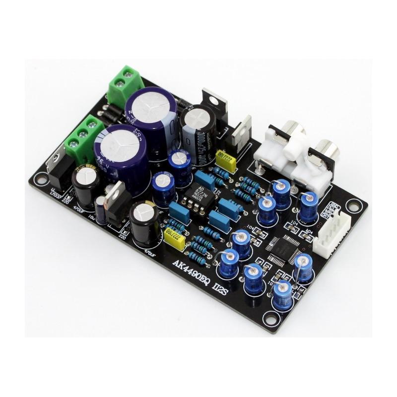 KYYSLB AC Dual 15V 15W AC 9V 10W AK4490EQ II2S 32-bit DAC Amplificador de Potência decodificador Bordo Amp Op AD827 Apoio 32BIT 768K